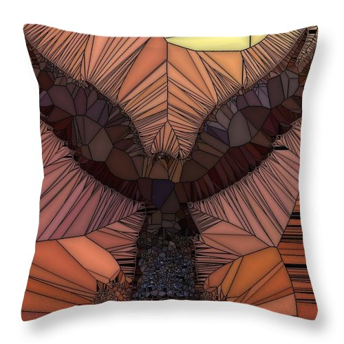 Eagles Throw Pillow featuring the digital art When Eagles Fly by Tina Vaughn