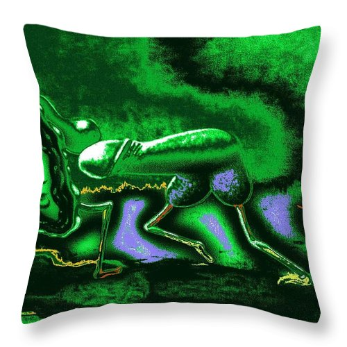 Genio Throw Pillow featuring the mixed media When Springtime Passion Erupts by Genio GgXpress