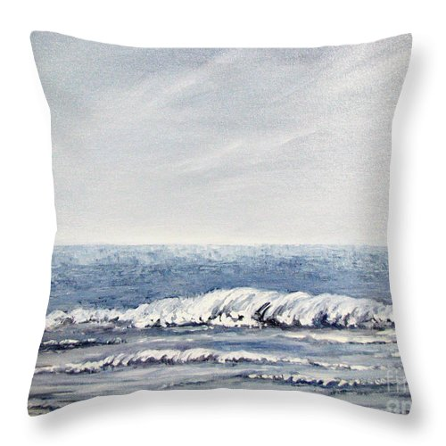 Seascape Throw Pillow featuring the painting Where I Want To Be by Todd Blanchard