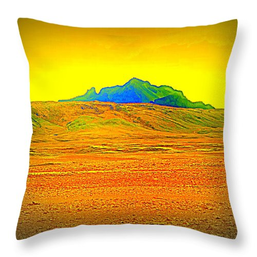 Iceland Throw Pillow featuring the photograph Go Far Out Where Nothing Grows, And Never Look Back  by Hilde Widerberg