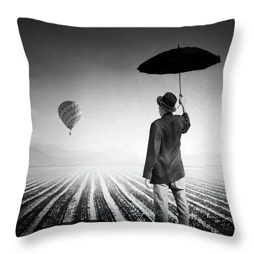 Shadow Throw Pillow featuring the photograph Where Oblivion Dwells by Saul Landell / Mex