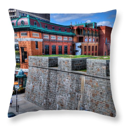Old Quebec Throw Pillow featuring the photograph Where Old Meets New by Bianca Nadeau