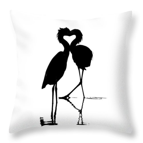 Birds Throw Pillow featuring the photograph Where The Heart Is by Doug Heslep