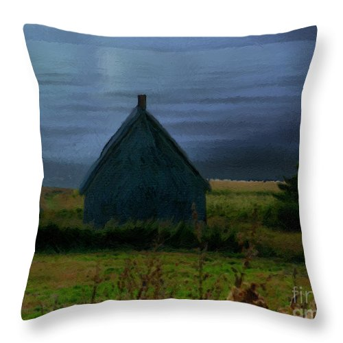 Moon Throw Pillow featuring the painting Where The Moon Meets The Water by RC DeWinter