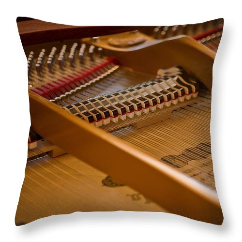 Piano Throw Pillow featuring the photograph Where The Music Lives by Rich Franco