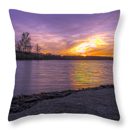 Hdr Throw Pillow featuring the photograph Where The Road Ends by Thomas Sellberg