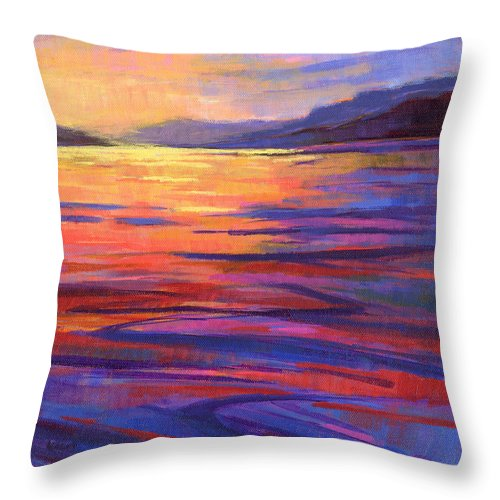 Water Throw Pillow featuring the painting Where The Whales Play 2 by Konnie Kim
