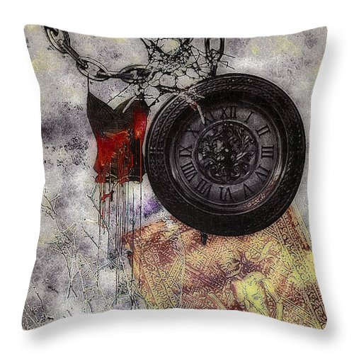 Nightmare Throw Pillow featuring the painting While You Were Sleeping by RC DeWinter