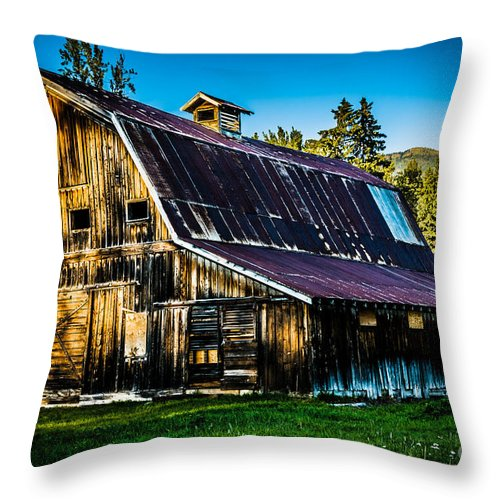 Whimsical Barn Throw Pillow featuring the photograph Whimsical Barn by Maria Trujillo