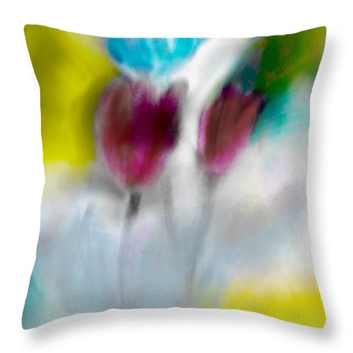 Whisper Throw Pillow featuring the digital art Whisper by Frank Bright
