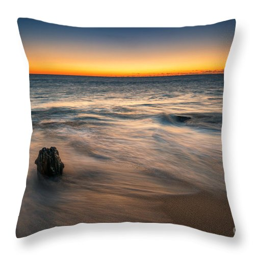 Sandy Hook Throw Pillow featuring the photograph Whisper Of The Waves by Michael Ver Sprill