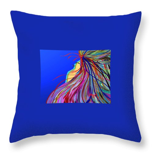Wind Throw Pillow featuring the painting Whispering Wind by Marie Clark