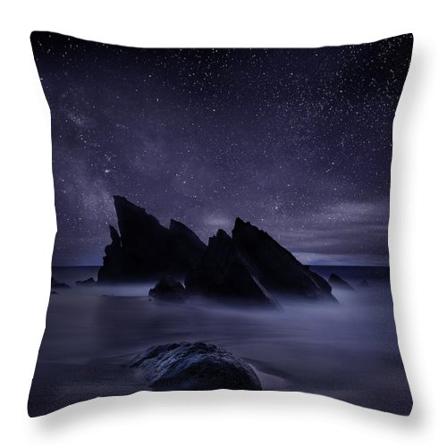 Night Throw Pillow featuring the photograph Whispers of eternity by Jorge Maia