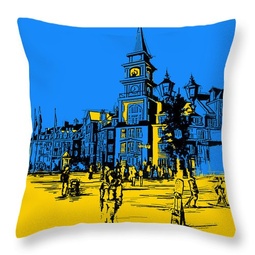 Vancouver Throw Pillow featuring the painting Whistler Art 002 by Catf