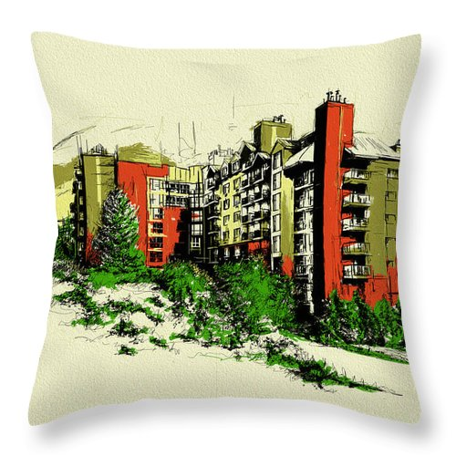 Vancouver Throw Pillow featuring the painting Whistler Art 004 by Catf