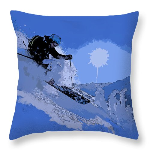 Vancouver Throw Pillow featuring the painting Whistler Art 005 by Catf