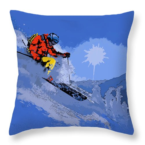 Vancouver Throw Pillow featuring the painting Whistler Art 006 by Catf