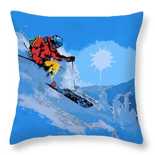 Vancouver Throw Pillow featuring the painting Whistler Art 008 by Catf