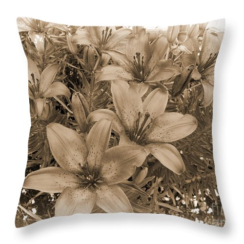 Oriental Lilies Photograph Throw Pillow featuring the photograph White Chocolate by Beverly Guilliams