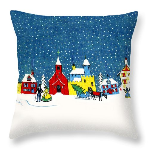 White Christmas Throw Pillow featuring the photograph White Christmas by Munir Alawi