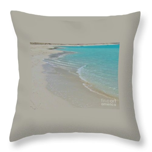 Keri West Throw Pillow featuring the photograph White Cove by Keri West