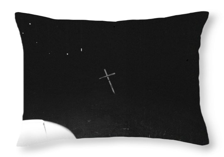 White Cross Throw Pillow featuring the photograph White Cross by Steven Macanka