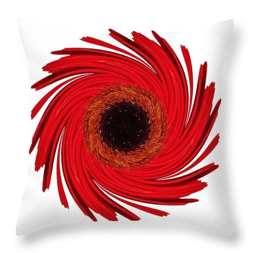 Flower Throw Pillow featuring the photograph Dying Amaryllis Vii Flower Mandala White by David J Bookbinder