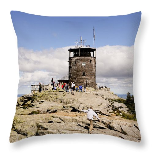 White Face Mountain Throw Pillow featuring the photograph White Face Lookout by Eric Swan