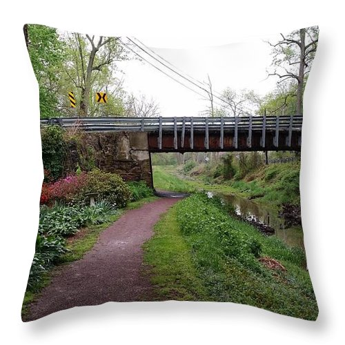 Landscape Throw Pillow featuring the photograph White Horse Canal by Mark Victors