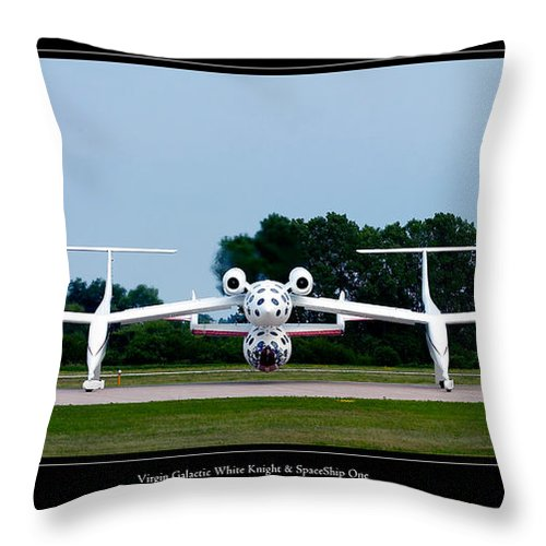 3scape Throw Pillow featuring the photograph White Knight by Adam Romanowicz