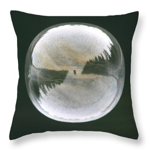 Bubble Throw Pillow featuring the photograph White Reflections by Cathie Douglas