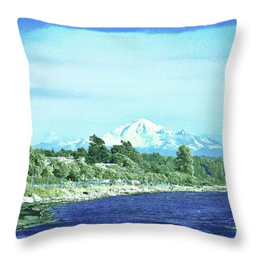 Suddenly Throw Pillow featuring the photograph White Rock To Baker by David Fabian