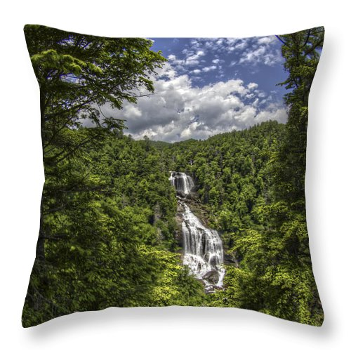 Whitewater Falls Throw Pillow featuring the photograph Whitewater Falls by Valerie Mellema