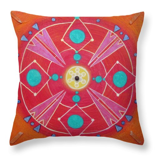 Wholeness Throw Pillow featuring the painting Wholeness by Janelle Schneider