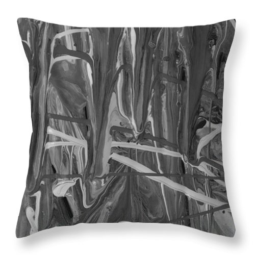 Original Throw Pillow featuring the painting Why Abs by Artist Ai