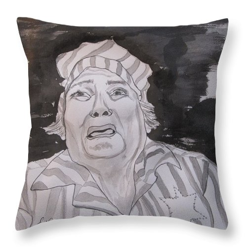Why Me Throw Pillow featuring the painting Why Me by Esther Newman-Cohen