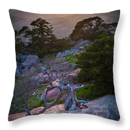 America Throw Pillow featuring the photograph Wichita Mountains Sunset by Inge Johnsson