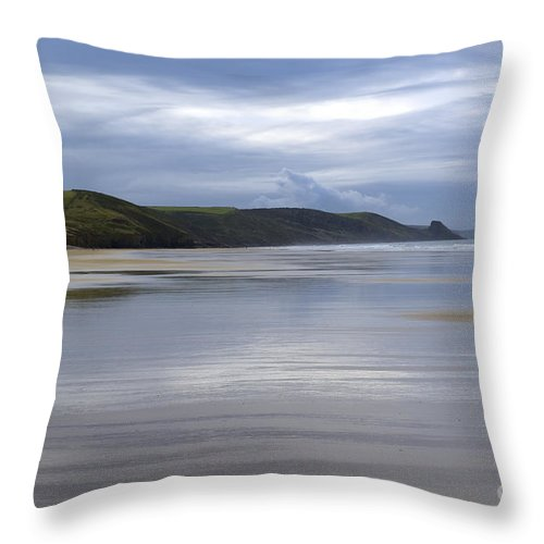 Doug Throw Pillow featuring the photograph Wide Open Spaces by Wendy Wilton
