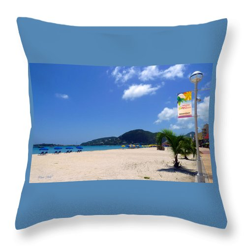 Caribbean Throw Pillow featuring the photograph Wifi In Paradise - Hotspot Redefined by Marie Hicks