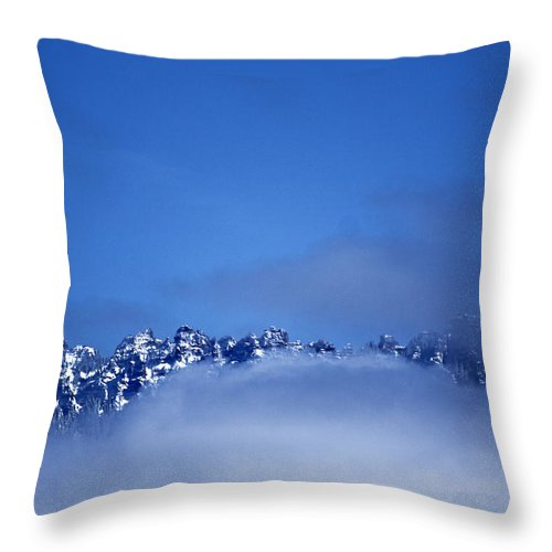 Wild Throw Pillow featuring the photograph Wild Blue Yonder On The Rocks by David Kehrli