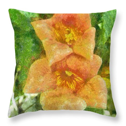 Bloom Throw Pillow featuring the painting Wild Flowers by Jeffrey Kolker