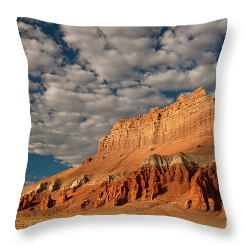 North America Throw Pillow featuring the photograph Wild Horse Butte Goblin Valley Utah by Dave Welling
