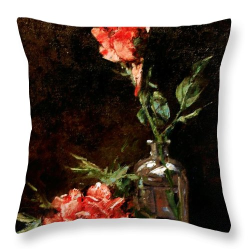 Floral Throw Pillow featuring the painting Wild Irish by Jim Gola