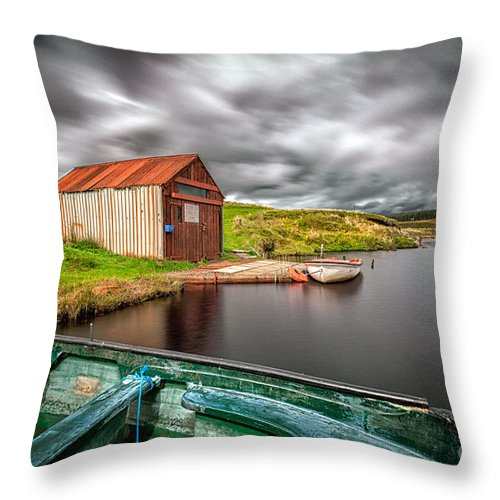 Scottish Canvas Throw Pillow featuring the photograph Wild Is The Wind by John Farnan