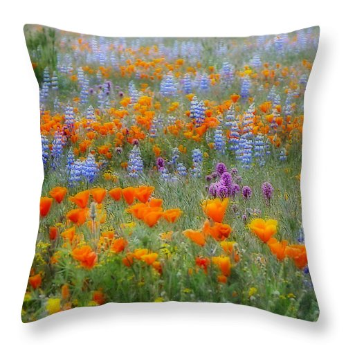 Wildflowers Throw Pillow featuring the photograph Wildflower Dreamin by Lynn Bauer
