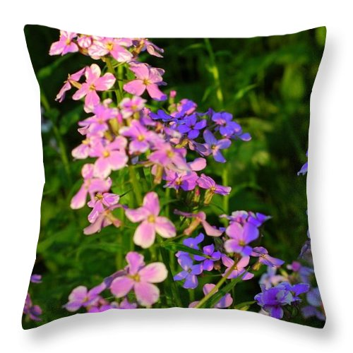 Wildflower Throw Pillow featuring the photograph Wildflower Woods by Kathleen Struckle