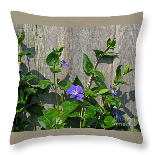 Purple Throw Pillow featuring the photograph Wildly Purple by Ann Horn