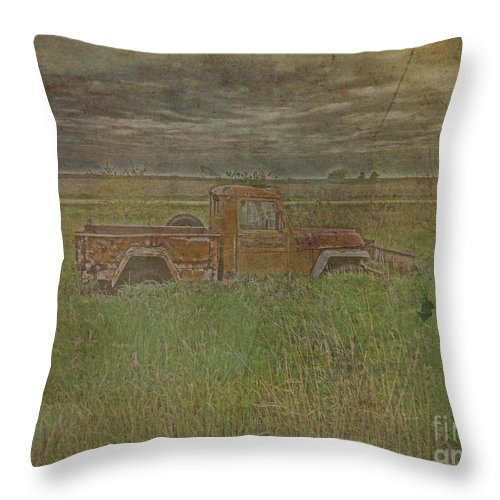 Willys Throw Pillow featuring the photograph Willys Jeep 1952 by Adri Turner