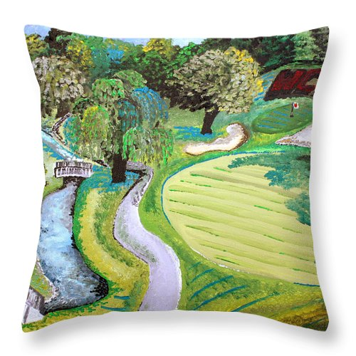 Golf Throw Pillow featuring the painting Winchester Country Club IIi by Wendy May