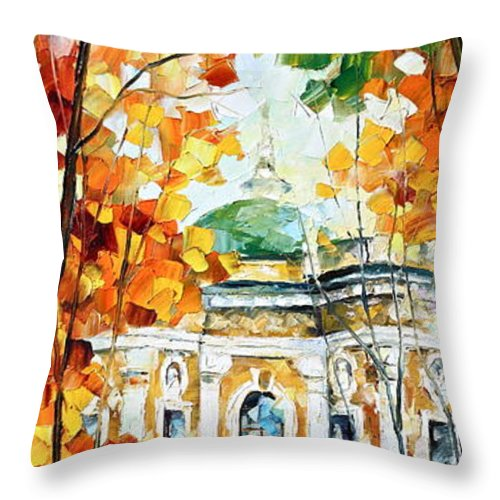 Afremov Throw Pillow featuring the painting Wind Of Dreams 2 by Leonid Afremov